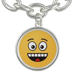 Pulsera Cara sonriente con la boca abierta