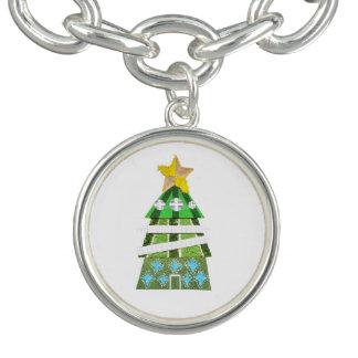 Pulsera con dije del árbol de navidad