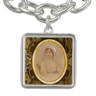 Pulsera con dije del retrato de Jane Austen