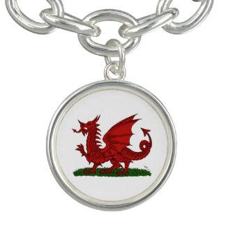Pulsera Con Dije Dragón rojo de País de Gales