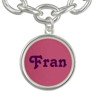 Pulsera con dije Fran