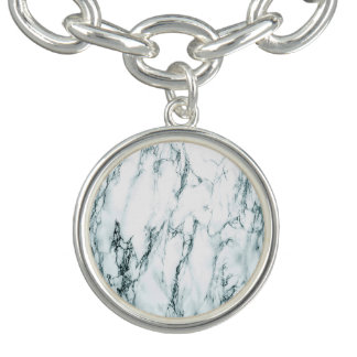 Pulsera Con Dije Mirada oscura del mármol de la vena de la turquesa