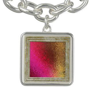 Pulsera Con Dije Modelo rosado y del oro