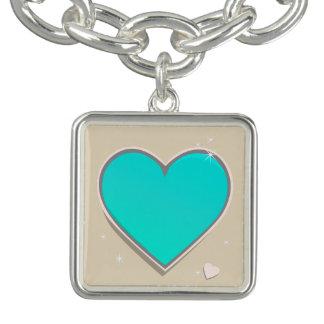 Pulsera Corazón de las azules turquesas de Birthstones