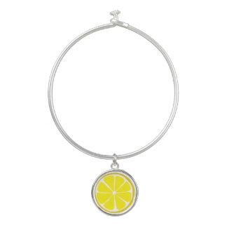 Pulsera del brazalete del encanto del limón de la