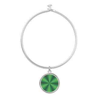 Pulsera del brazalete del verde de la ilusión