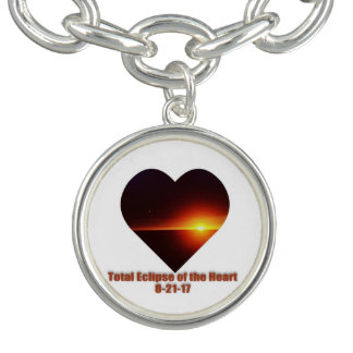 Pulsera Eclipse total del encanto del corazón