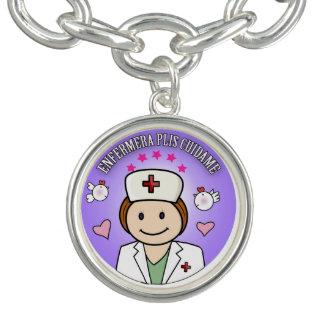 Pulsera Enfermera Plis Cuidame Castaña