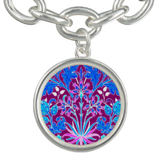 Pulsera Impresión, aguamarina y púrpura del jacinto de