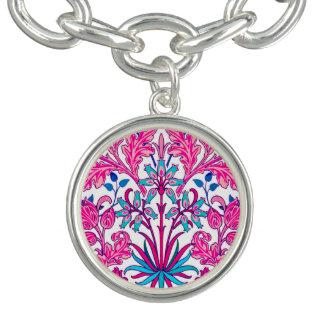 Pulsera Impresión del jacinto de William Morris, rosa del