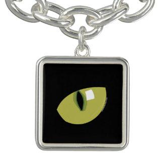 Pulsera Ojo verde del gato negro