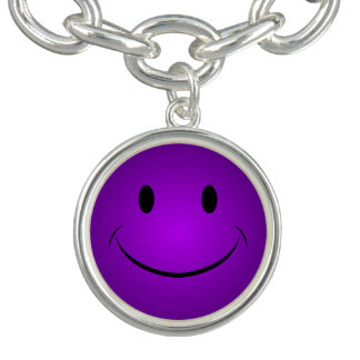 Pulsera Smiley púrpura