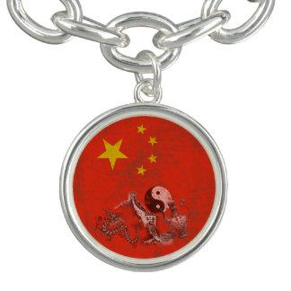 Pulseras Con Dijer Bandera y símbolos de China ID158