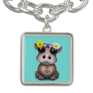 Pulseras Con Dijer Hippie lindo del hipopótamo del bebé