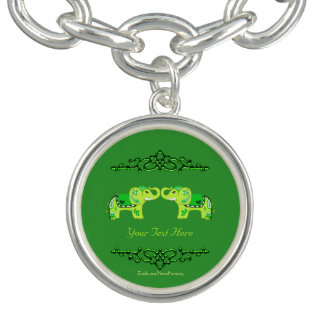 Pulseras Elefante de la alheña (verde/verde lima)