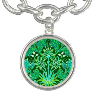 Pulseras Impresión del jacinto de William Morris, verde