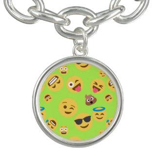 Pulseras Modelo divertido de Emoji (verde)