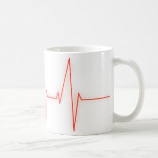 pulso del corazón taza de café