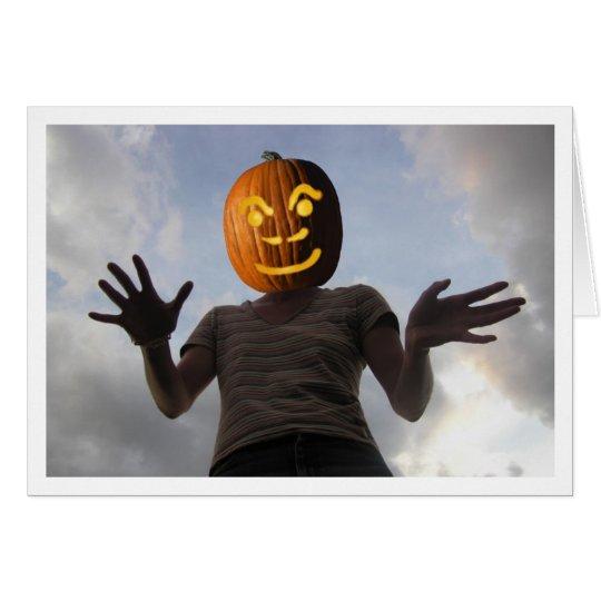 Pumpkinwoman Tarjeta De Felicitación
