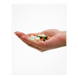 Puñado de medicina tarjeton