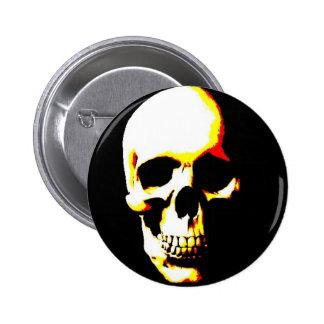 Punk de la roca del arte de la fantasía del cráneo chapa redonda 5 cm