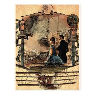Punk del vapor, postal del arte del estilo del