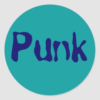 Punk Pegatina Redonda