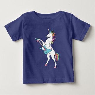 punk-roca-unicornio-jugar-guitarra-camisa camiseta de bebé