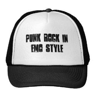 punk rock en el estilo del emo - modificado para r gorras de camionero