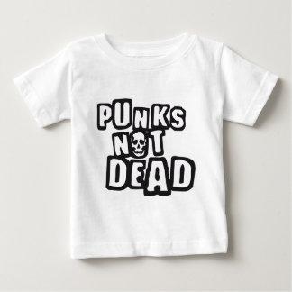 punks not dead camiseta de bebé