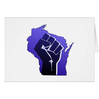 Puño de la solidaridad de Wisconsin Felicitacion