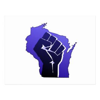 Puño de la solidaridad de Wisconsin Postales