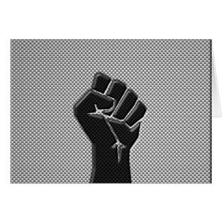 Puño de la solidaridad en estilo de la fibra de tarjeta de felicitación