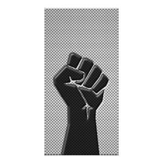 Puño de la solidaridad en estilo de la impresión tarjeta personal