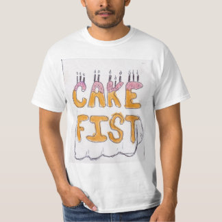 Puño de la torta camisetas