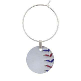 Puntadas rojas y azules del béisbol/del softball identificador de copa