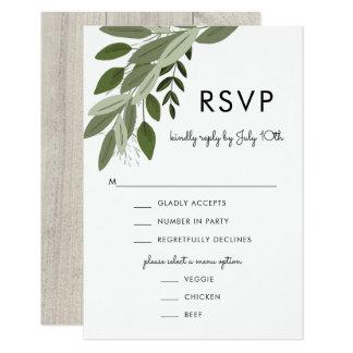 Puntillas rústicas del boda, tarjeta de RSVP Invitación 8,9 X 12,7 Cm