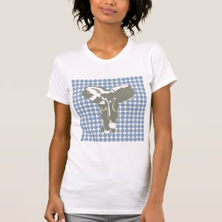 Punto azul del safari de la roca con el elefante camisetas