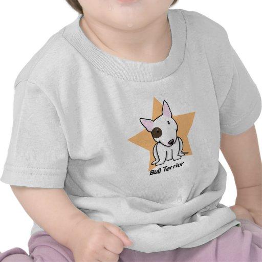 Punto bull terrier del ojo de la estrella de camisetas
