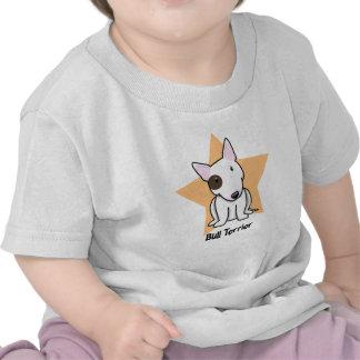 Punto bull terrier del ojo de la estrella de Kawai Camisetas