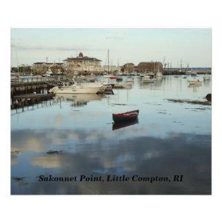 Punto de Sakonnet, puerto, pequeño Compton, RI Fotografia