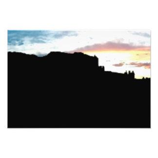 Punto de vista Su de las montañas de la sal del La Arte Fotográfico