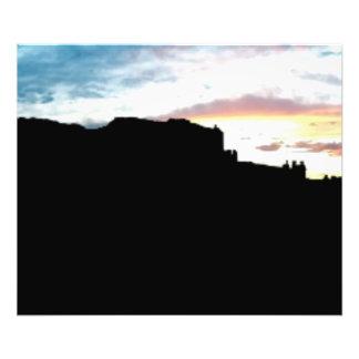 Punto de vista Su de las montañas de la sal del La Fotografias