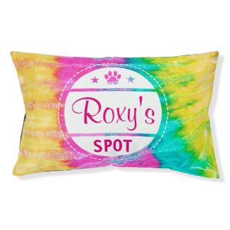 Punto del nombre del perro de la impresión de la cama para mascotas