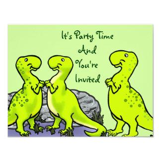 Punto, el dinosaurio invitación 10,8 x 13,9 cm