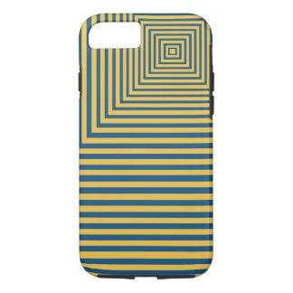 Punto focal de la meditación de la hipnosis azul y funda iPhone 7
