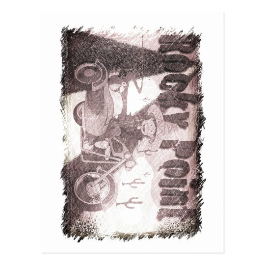 punto rocoso de México del grunge Postal