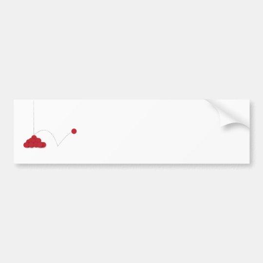 Punto rojo animoso pegatina para coche