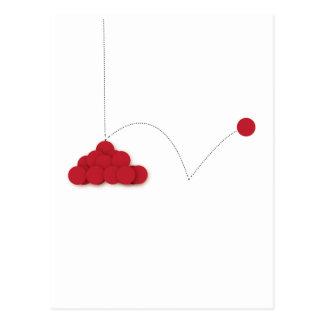 Punto rojo animoso postal