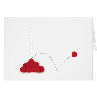 Punto rojo animoso tarjeta de felicitación